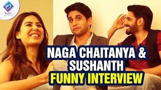 naga chaitanya sushanth funny interview aatadukundam raa movie sonam bajwa