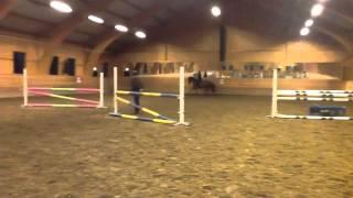 Annika o Mamsell bana på träning 2014-04-08