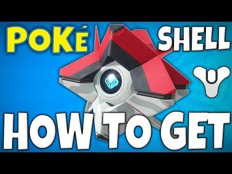 Destiny 2 - How To Get A POKE-SHELL - (Pokemon PokeBall Ghost Shell)