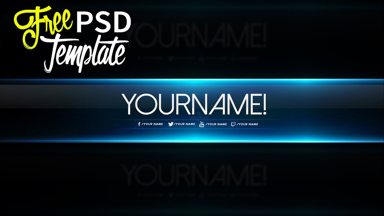 free youtube banner template psd 2016 youtube