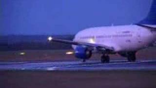 View from ground of 737 night takeoff - Fear of Flying