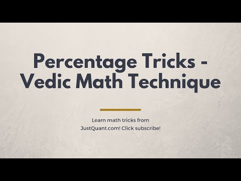 Percentage tricks - Calculate Percentages Mentally - Using Vedic ...