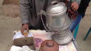 Making Kashmiri kahwa