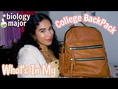 What's In My College Backpack 2020 (bio major student)