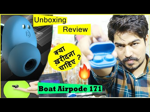 Boat Airdopes 171 Wireless Bluetooth Headphone Unboxing & Review In Hindi    Should you Buy it ? 🔥