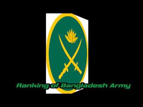 Badge and Ranking of Bangladesh Army (COMMISSIONED OFFICER)