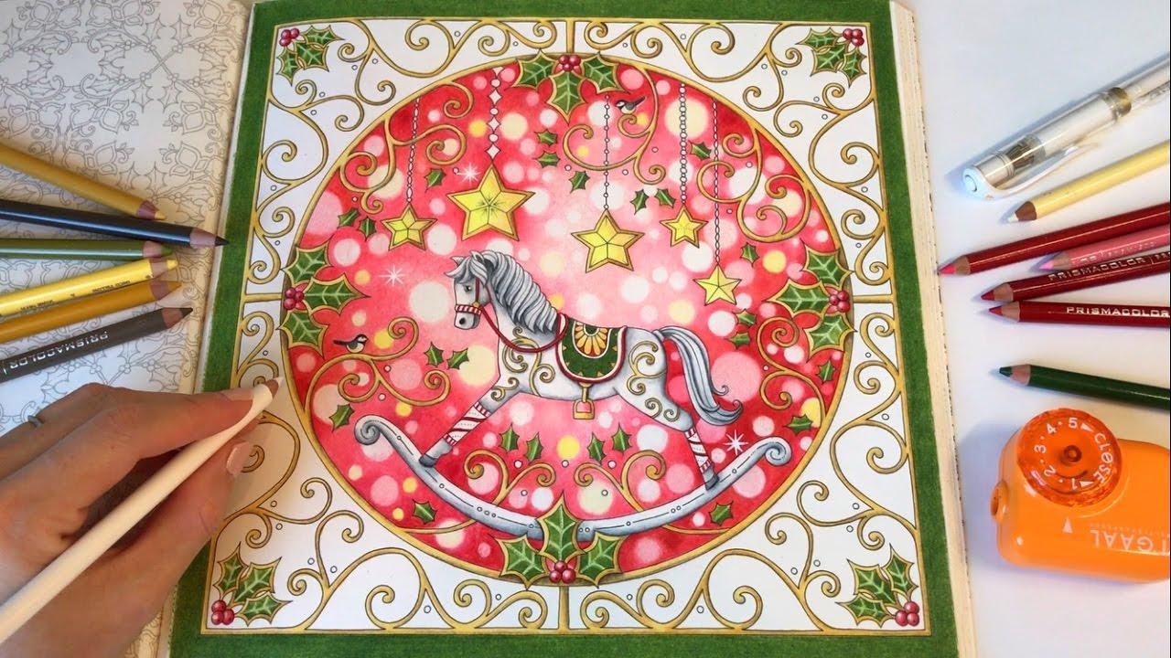 christmas joy johannas christmas a festive coloring book youtube