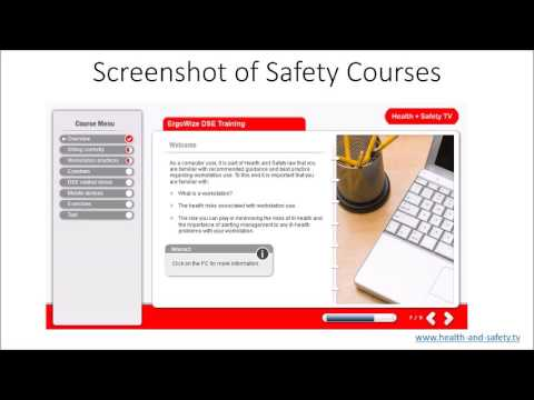 Health and Safety TV Video of E-Learning Courses