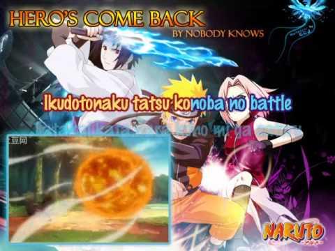Naruto, Hero's Come Back[Karaoke/instrumental]