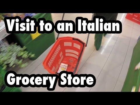 Visit to an Italian Grocery Store