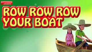 Row Row Row Your Boat - English Nursery Rhyme 3D Animated