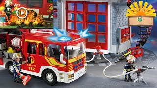 FEUERWEHR IM EINSATZ! Stromausfall in Playmobil City - Kinderfilm deutsch