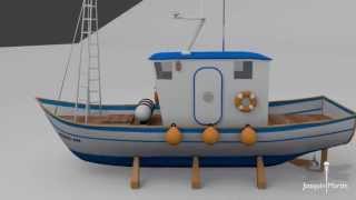 Barco pesquero - Blender 3D