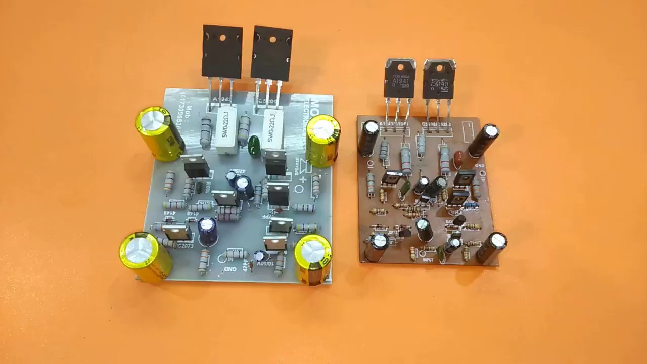 Amplifier Circuit Using 2sc And 2sa Amplifier