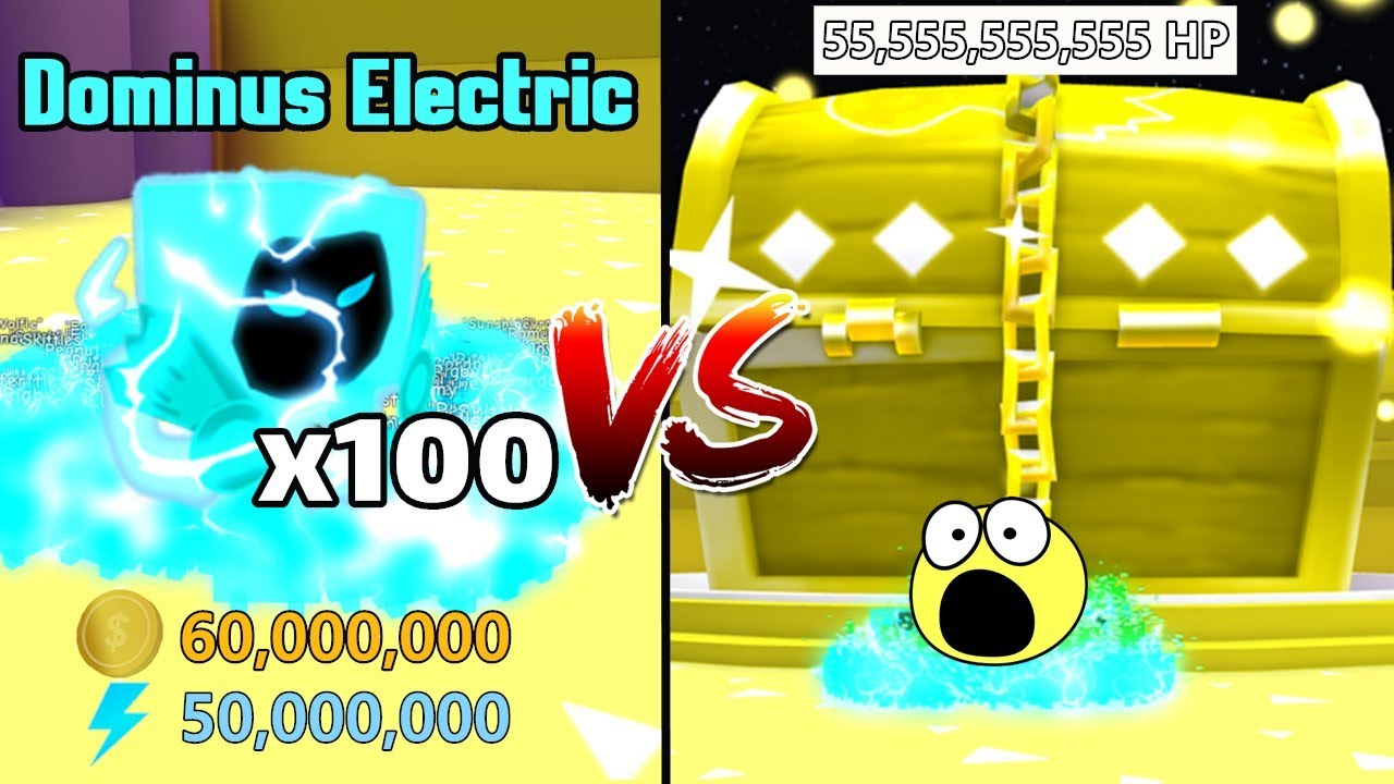 100 Dominus Electric VS Dominus Chest! Destroy Dominus Chest In 5 Mins! New Record! - Pet Simulator