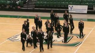 2009 Eastern Michigan Mid American Pom Pon Garden City Middle School 11-8-09 High Kick