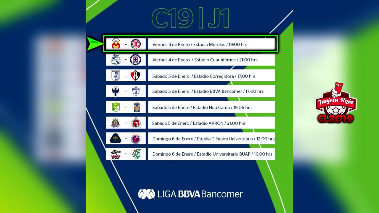 Próximos Partidos, Horarios y Transmisiones | JORNADA 1 Clausura 2019 | Liga Mx