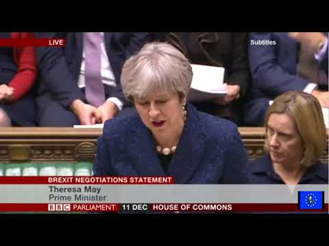 Theresa May's Brexit Negotiations Statement (Full plus Q and A)