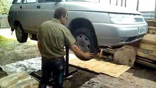 Устройство автомобильного подъемника для ремонта машин(, 2016-09-02T17:16:15.000Z)