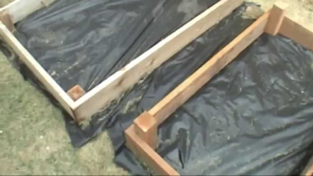 How To Build Raised Bed Box For A Garden Youtube