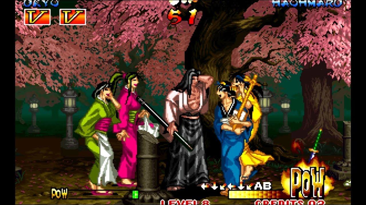 Samurai Shodown III Ukyo playthrough / lvl-8 bust 【60fps】