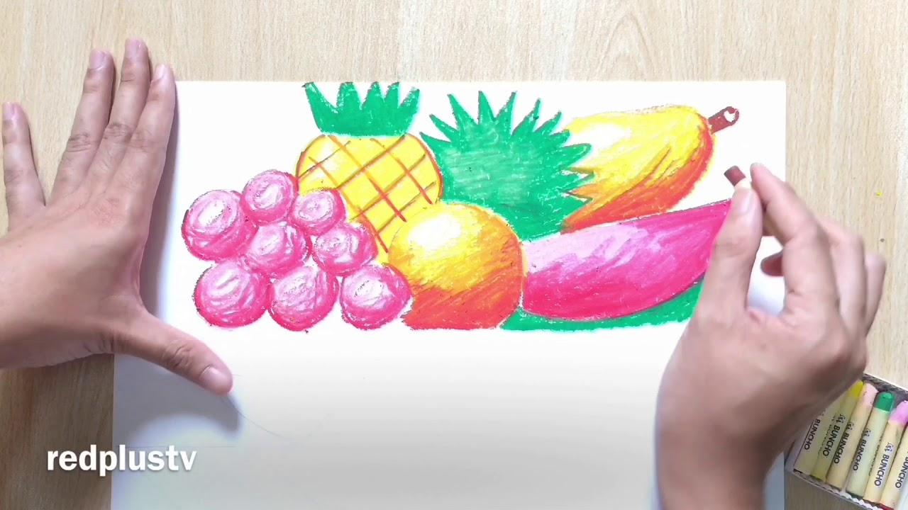 Lukisan Oil Pastel Krayon Buah Buahan Tempatan Ppt Dan Pat Tahap 1 Dan 2 Pendidikan Seni Visual Youtube