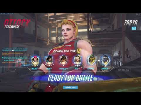 Overwatch Grandmaster - Golden Weapon Weightlifter Zarya Gameplay