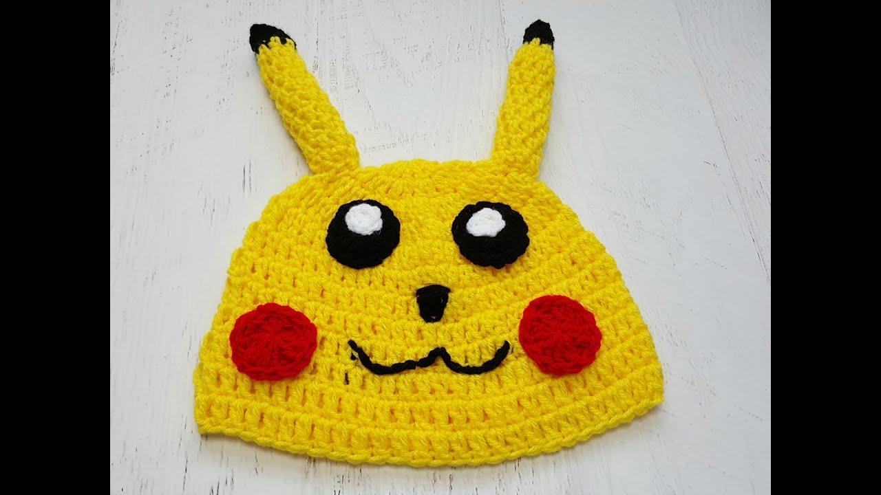 Little Yellow Monster (pikachu inspired crochet hat) - YouTube