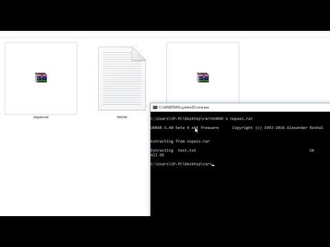 How to extract  rar (RAR) files using CMD in Windows