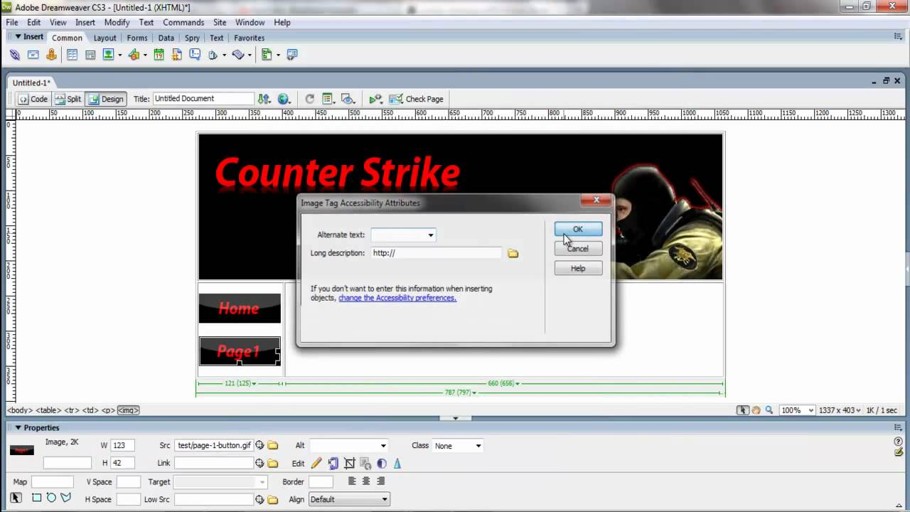 dreamweaver tutorial making a web template and dealing with