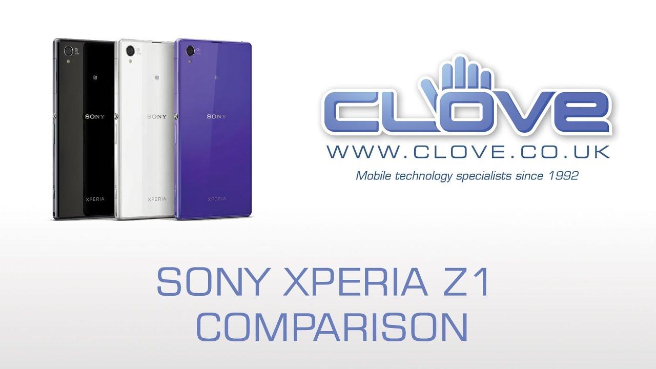 Sony Xperia Z1 Black V White Comparison - YouTube  Sony Xperia Z1 ...