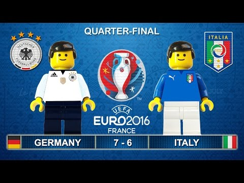 Euro 2016 Quarter-Final - Germany vs Italy 7-6 (1-1) in Lego Football Highlights Germania - Italia