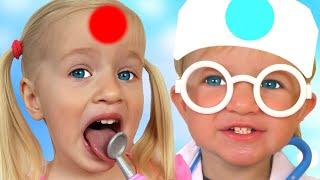 ¡El Bebé visita al Doctor! 👨⚕️ | Canción Infantil | | Canciones Infantiles con Katya y Dima