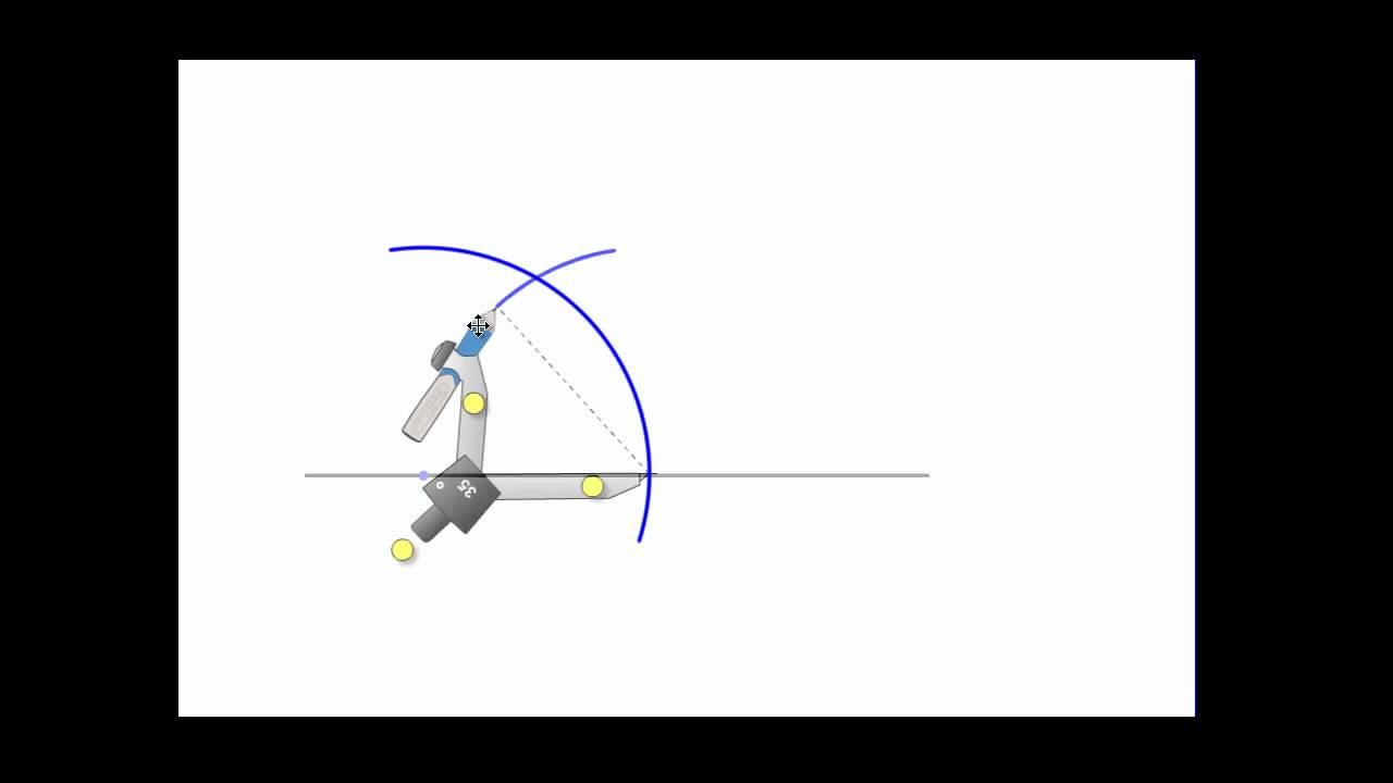 Konstruksjon av 60 graders vinkel
