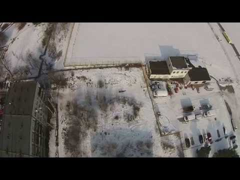 500M FLIGHT DRONE KATOWICE EURO CENTRUM ROUND STATION