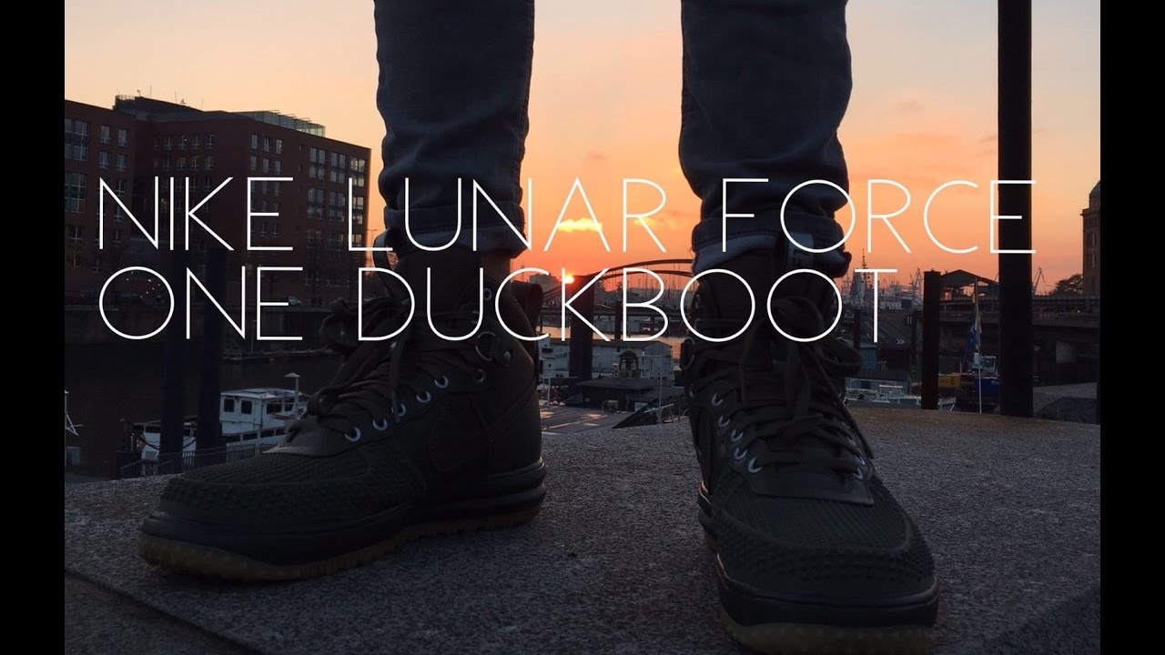NIKE LUNAR FORCE 1 DUCKBOOT UNBOXING+(ON FEET)   HAMBURG SPEICHERSTADT 5fb87c83e
