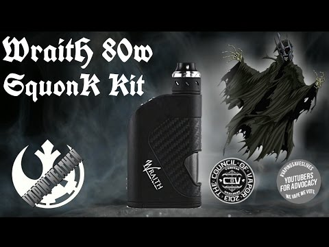 Wraith 80w TC Squonk Kit | Council of Vapor