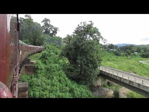15691 Lumding Jn-Silchar Cachar MG express crossing a bridge!