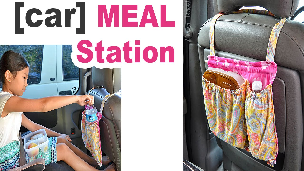 Diy Meal Organizer For The Car A Sewing Tutorial Youtube