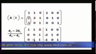 Toán cao cấp 1 (bài 7: Ma trận nghich đảo)