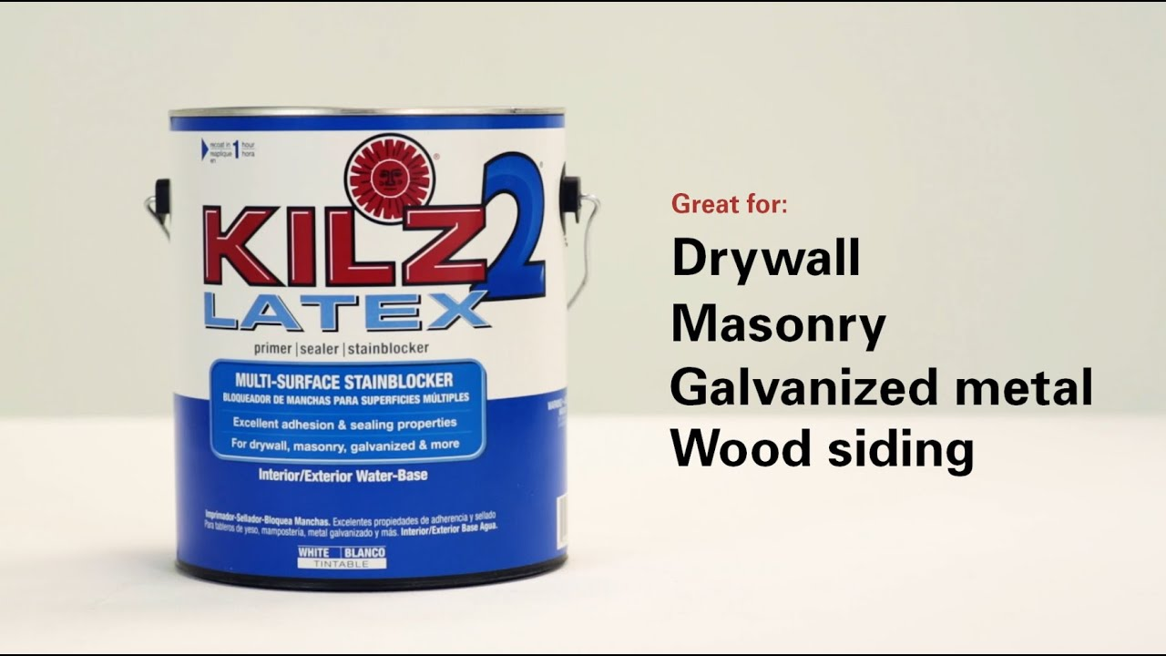Kilz 2 Latex Interior Exterior Water Based Primer Youtube