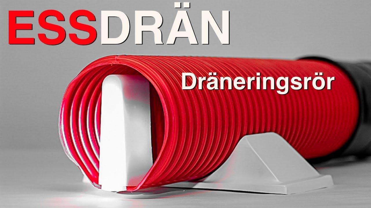 Inredning dräneringsrör : ESS-Drän - dräneringsrör utan igentäppningsrisk - YouTube