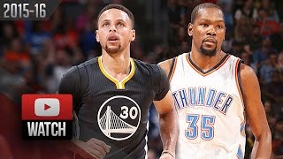 Stephen Curry vs Kevin Durant EPIC Duel Highlights (2016.02.27) Thunder vs Warriors - MUST WATCH!