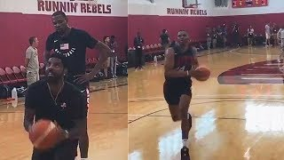 Kyrie Irving Teaches Kevin Durant and Russell Westbrook Basketball Moves! 2018 USA Basketball