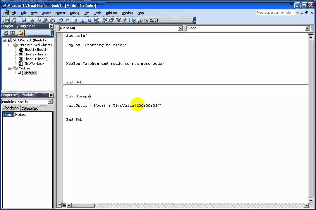 How To Make Code Pause In Excel Vba
