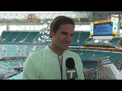Roger Federer - 2019 Miami Pre-Tournament Tennis Channel Interview