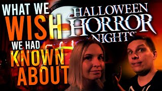 What We Wish We Had Known About HALLOWEEN HORROR NIGHTS! | 25 THINGS TO KNOW BEFORE YOU GO!