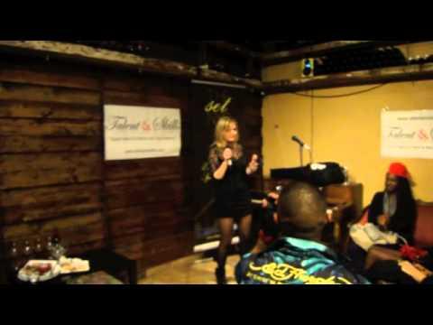 Singing at Klimat Lounge in New York City