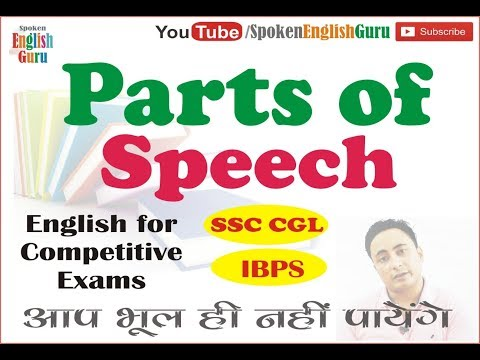 Parts of Speech in English I Learn English Grammar in Hindi