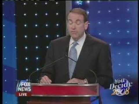 Mike Huckabee Fox New GOP Debate 4